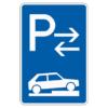Parken auf Gehwegen halb quer zur Fahrtr. links