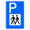Verkehrszeichen 317 Wandererparkplatz