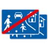 Richtzeichen 325.1-40 Verkehrsberuhigter Bereich doppelseitig (Rückseite Z. 325.2)