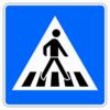 Fußgängerüberweg,Aufstellung links