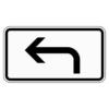 Zusatzzeichen 1000.11 Richtung der Gefahrenstelle, linksweisend