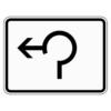 Zusatzzeichen 1000.13 Umleitungsbeschilderung Dreiviertelkreis