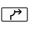 Zusatzzeichen 1000.23 Umleitungsbeschilderung Viertelkreis