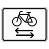 Zusatzzeichen 1000.32 Radverkehr kreuzt von links nach rechts