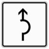 Zusatzzeichen 1000.34 Umleitungsbeschilderung Halbkreis