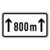 Zusatzzeichen 1001.30 auf...m