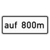 Zusatzzeichen 1001.34 auf … m (verbal) (in Verbindung mit  Fahrstreifentafeln  Z. 521 ff.)