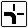 Zusatzzeichen 1002.10 Verlauf der Vorfahrtsstraße