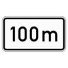 Zusatzzeichen 1004.30 Entfernungsangabe in m