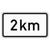 Zusatzzeichen 1004.31 Entfernungsangabe in km