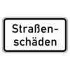 Zusatzzeichen 1007.34 Straßenschäden