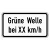 Zusatzzeichen 1012.34 Grüne Welle bei ... km/h