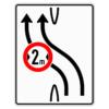 Verkehrslenkungstafel 505.11 Überleitungstafel mit Zeichen 264