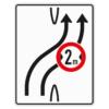 Verkehrslenkungstafel 505.21 Überleitungstafel mit Zeichen 264