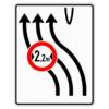 Verkehrslenkungstafel 505.12 Überleitungstafel mit Zeichen 264