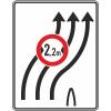 Verkehrslenkungstafel 505.22 Überleitungstafel mit Zeichen 264