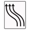 Verkehrslenkungstafel 511.12 Verschwenkungstafeln