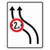Verkehrsleintungstafel 515.11 Verschwenkungstafeln mit Zeichen 264