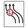 Verkehrsleintungstafel 515.12 Verschwenkungstafeln mit Zeichen 264