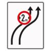 Verkehrsleintungstafel 515.21 Verschwenkungstafeln mit Zeichen 264