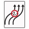 Verkehrsleintungstafel 515.22 Verschwenkungstafeln mit Zeichen 264
