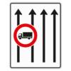 Verkehrslenkungstafel 524.32 Fahrstreifentafeln mit Zeichen 253