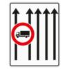 Verkehrslenkungstafel 524.33 Fahrstreifentafeln mit Zeichen 253