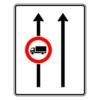 Verkehrslenkungstafel 524.30 Fahrstreifentafeln mit Zeichen 253