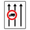 Verkehrslenkungstafel 524.31 Fahrstreifentafeln mit Zeichen 253