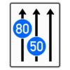 Verkehrslenkungstafel 525.31 Fahrstreifentafeln mit Zeichen 275