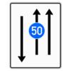 Verkehrslenkungstafel 526.31 Fahrstreifentafeln mit Zeichen 275