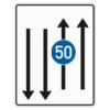 Verkehrslenkungstafel 526.33 Fahrstreifentafeln mit Zeichen 275