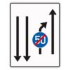 Verkehrslenkungstafel 536.21 Einengungstafeln mit Zeichen 279