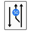 Verkehrsleitungstafel 546.10 Aufweitungstafeln mit Zeichen 275