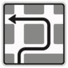 Verkehrsleitungstafel 590.10 Blockumfahrung rechts-links-links