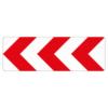 Verkehrszeichen 625.11 Richtungstafel in Kurven, linksweisend