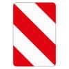 Verkehrszeichen 626.20 Leitplatte, Aufstellung links