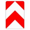 Verkehrszeichen 626.30 Leitplatte, beidseitig vorbei