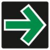 Verkehrseinrichtungen 720 Grünpfeilschild